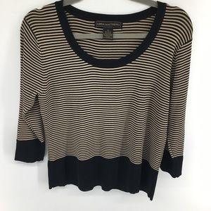 Linda Matthews Striped Sweater NWOT